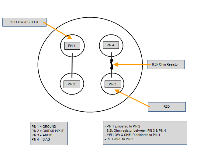 Wiring configuration for a ME 3 to an Audio Technica 4 Pin ...