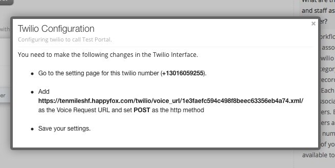 Enable integration with Twilio - HappyFox Support