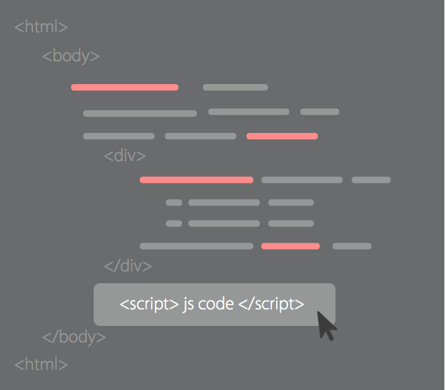 Copy Javascript code to </body>